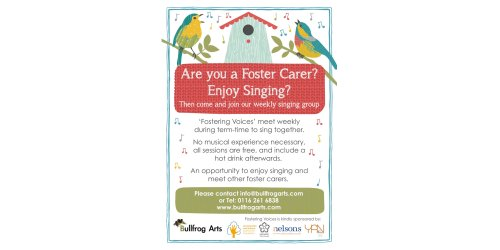 Are you a Foster Carer? Enjoy Singing?  Why not join 'Fostering Voices'?