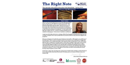 Find The Right Note! The new Leicester-Shire Music Education Hub newsletter is here!!!!