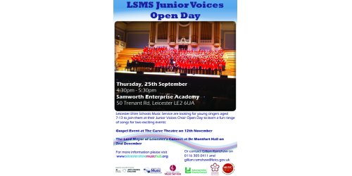 Junior Voices Choir Open Day - September 25th